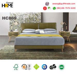 Bedroom Furniture New Elegant Design Modern Leather Bed (HC869) pictures & photos