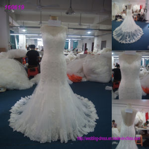 Wholesale Good Quality Women′s Sleeveless Maxi Wedding Dresses pictures & photos
