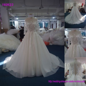 Bride Use and Sleeveless Design Wedding Dresses with Long Trains pictures & photos