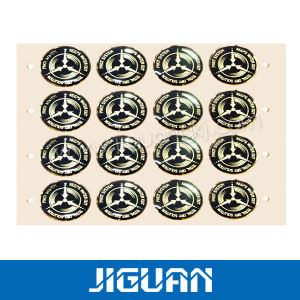 Durable Quality Custom Adhesive 3D Soft Crystal Clear Epoxy Sticker pictures & photos