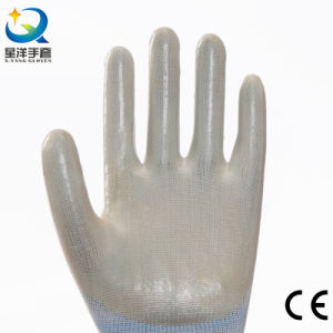 13G PVC Orange Polyester Shell, Orange PVC 3/4 Coated Industrial Gloves (N6030) pictures & photos