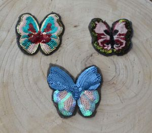 Butterfly Garment Accessories Sequins Patches Embroidery Patch Ym-012 pictures & photos