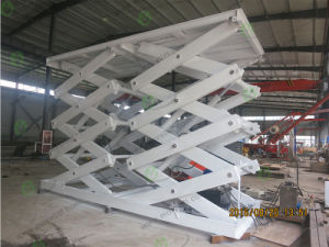 Hydraulic 3T Cargo Lift Scissor Lift Table pictures & photos
