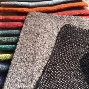 Polyester Chenille Plain Woven Fabric for Sofa Covering (G096) pictures & photos