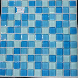 30X30 Shine Round Crystal Glass Mosaic Floor and Wall Tile pictures & photos