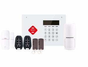 Touch Keypad Home Security Burglar Alarm with RFID Card (ES-G66B) pictures & photos