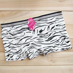 8 Colors Underwear Ladies Boxer Stripe Cotton Knickers (TP-25608)