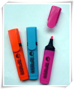 Popular Design PP Material Fiber Tip Colorful Highlighter Marker Pen