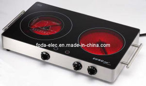 Metal Shell Table-Top Knob-Type Portable Double Infrared Cooker/Hilight/Hi-Light/Not Induction Stove/Ceramic Cooker