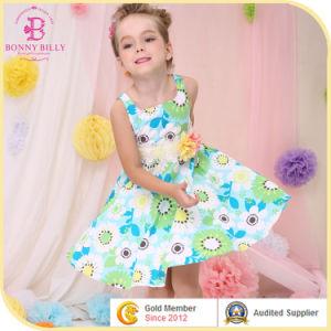 Girl Flower Pattern Dresses, Child Cotton Frocks