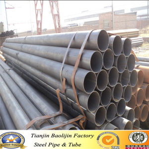 Different Diameter Low Carbon ERW Black Steel Pipes From China pictures & photos