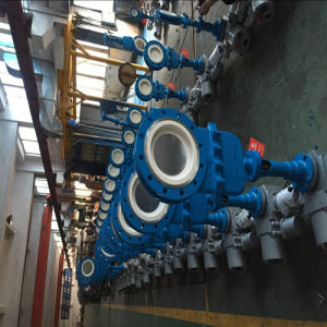Electric Flange Ceramic Slurry Valve pictures & photos