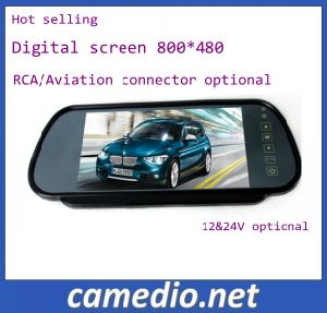 "7""TFT LCD Car Rear View/ Rearview Mirror Monitor with USB/SD/MP5 M705c pictures & photos"