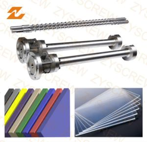 Sheet Extruder Machine Bimetallic Single Screw and Barrel pictures & photos