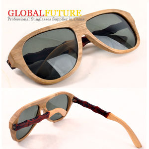 Fashion Bamboo Polarized Sunglasses with Dyed Leg