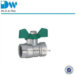 Pn20 Brass Ball Valve with Butterfly Handle pictures & photos