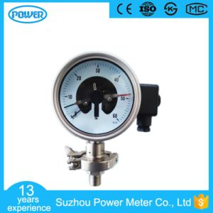 100mm All Stainless Steel Electric Contact Diaphragm Manometer pictures & photos