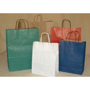 Colorful Kraft Paper Shopping Bag pictures & photos