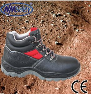Nmsafety Cow Split Leather Working Industrial Security Shoes pictures & photos