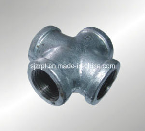 Banded Galvanized Crossing Malleable Iron Pipe Fittings pictures & photos