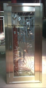 Door in Door Stainless Steel Door with Glazing Trim in SUS304 (ES-8082) pictures & photos