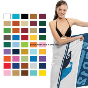 100% Cotton Yarn Dyed Jacquard Beach Towel pictures & photos