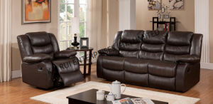PVC Black Modern Home Furniture Sofa