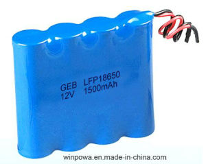 12V Rechargeable LiFePO4 18650 Lithium Battery Pack