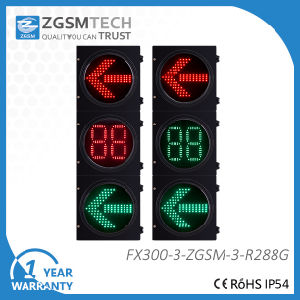 2 Colors Red Green LED Arrow Traffic Light and 2 Digital Countdown Timer