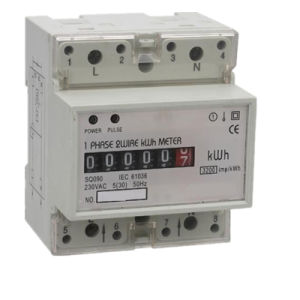 Single Phase DIN-Rail Watt-Hour Meter with LCD Digital Display pictures & photos