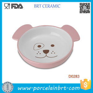 Small Cute Dog Shape Ceramic Food Feeding Pet Bowl pictures & photos