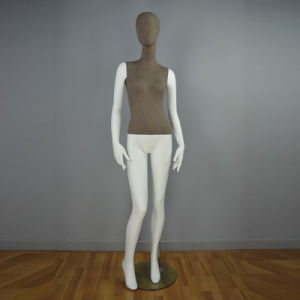 New Fashionable Fiberglass Female Mannequin in Linen Covered pictures & photos