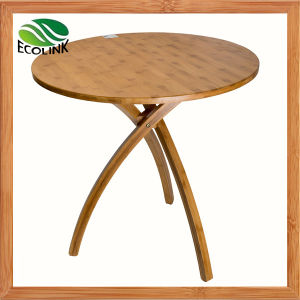 Modern Design Small Size Bamboo Round Tea / Coffee Table pictures & photos