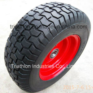 16X6 16 Inch 6.50-8 Turf Flat Free Tires with Traffic Yellow Wheel pictures & photos