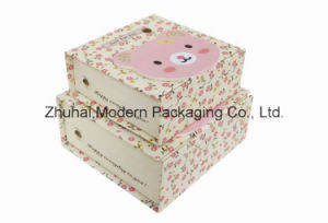 Printed Set Cardboard Paper Gift Boxes / Rigid Gift Packaging Box pictures & photos