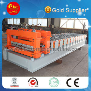 Russian Type Glazed Tile Arc Bias Roll Forming Machine (1100) pictures & photos