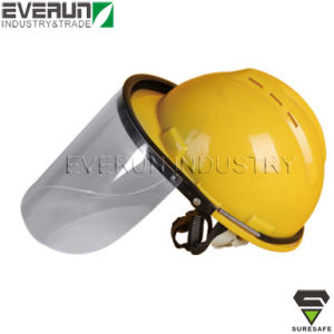With PVC or PC Visor Face Shield Safety Helmet Set pictures & photos