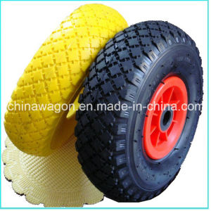 3.00-4 PU Solid Foam Tubeless Wheel for Wheelbarrow pictures & photos