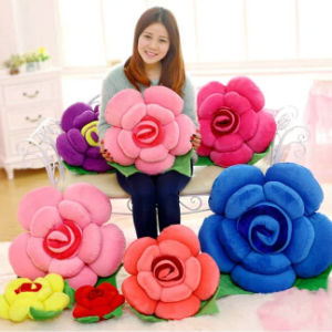 High Quality Flower Shape Soft Decoration Cushion pictures & photos