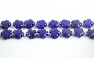 Dyed Jade 5-Petal Flower Beads Gemstone Beads