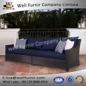 Well Furnir Rattan Patio Sofa with Cushion pictures & photos