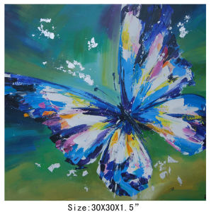 Beautiful Wall Hanging Picture Butterfly Abstract Oil Painting (LH-700604) pictures & photos