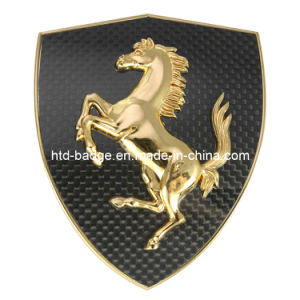 China Manufacturing 3D High Quality Car Badge with Carbon Background (BD036)