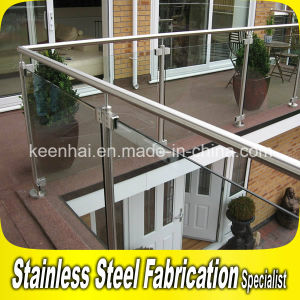 Indoor Stainless Steel Balcony Railing Tempered Glass Balustrade pictures & photos