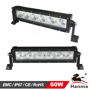 High Power 60W Single Row Offroad LED Light Bar