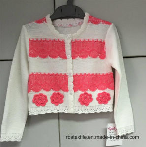 Girls Crochet Flower - True Knitted Cardigan pictures & photos