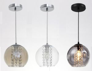 Glass Ball Pendant Lamp with Crystal Inside (WHG-259) pictures & photos
