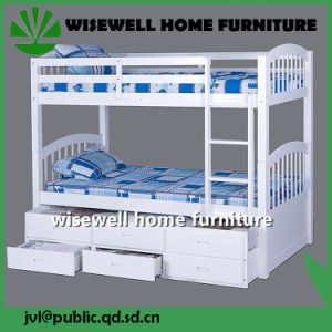 Solid Pine Wood Dormitory Single Bunk Bed (W-B-0050) pictures & photos