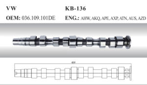 Auto Camshaft for VW (036.109.101de) pictures & photos