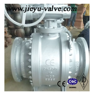 Pn16 Dn500 3PC Wcb Trunnion Mounted Flange Ball Valve pictures & photos